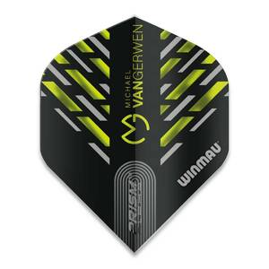 Winmau piórka Prism Alpha MvG Black, Green & Grey Chevron